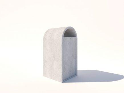 L1002 Lixeira Capela em cimento - Comercial Vidoto